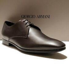 NEW Giorgio Armani ITALY Brown 8 41 Leather Formal Dress Oxford Men's Shoes