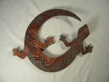 """Metal Gecko Wall Art, Excellent Condition, 9-1/4"""" x 12"""", Ready for Hanging"""