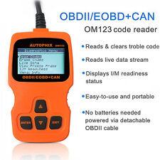OM123 Vehicles Car Diagnostic Scanner CAN OBDII Tester ELM327 Diagnostic Reader