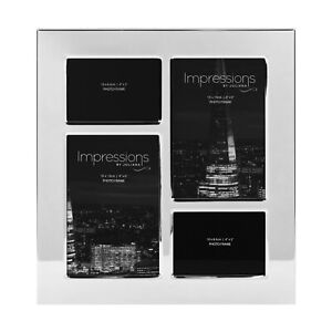 Impressions Nickel Plated  Multi Aperture 4 Photos Collage Photo Frame