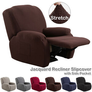 4-tlg Stretch Couch Schonbezug Relaxsessel Sofabezug Stuhlbezug Schutzhülle DE