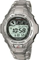 PREOWNED Casio G7100D G-Shock Men's Stainless Steel Wristwatch World Time QUARTZ