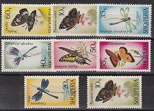 SERIE FRANCOBOLLI 1966 ALBANIA FARFALLE E LIBELLULE YVERT 872-9 MNH**