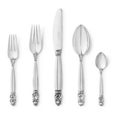 Georg Jensen Sterling Silver Flatware 20 pcs. Set - Acorn / Konge - NEW