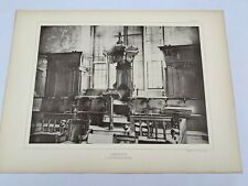 "1800s Oxford University Convocation Room Antique 19"" x 14"" Print #127"
