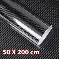 2x Rotolo pellicola EFFETTO carbonio 5D adesivo LUCIDO moto auto 50x200cm D5C