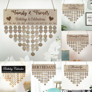 Family Birthday Board Plaque DIY Hanging Wooden Wedding Reminder DIY Calendar