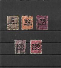 Deutsches Reich, 1923 Michelnrn: Dienstmarken  aus 89 - 96 o, Katalogwert € 20