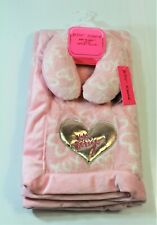 Betsey Johnson Infant Baby Blanket w/ Support Pillow color Pink