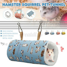 New listing Pet Small Cats Hamster Squirrel Tunnel Activity Toy Warm Nest Bed Pets Tube &