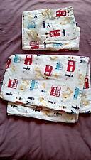 John Lewis Cot Bed Duvet Cover and Pillow Case reversible 100% cotton