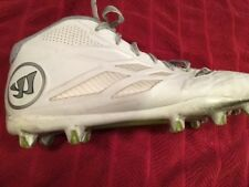 Warrior Lacrosse Cleats Burn 8 White Silver Size 12