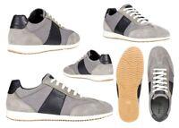 Scarpe da uomo Geox U026 sneakers casual basse vera pelle da passeggio estive