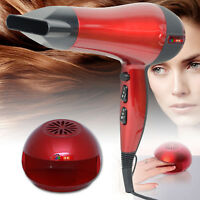 SET OF PROFESSIONAL HAIR DRYER 2200W AND NAIL DRYER HEAT HAIRDRYER RED BLOW POLI