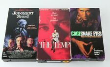 3 Vhs Movies: The Temp Nicolas Cage Snake Eyes Judgement Night Brian From Wings!