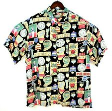 Vintage Reyn Spooner Mens XXL 2XL Black Hawaiian Diner Button Front Shirt EUC