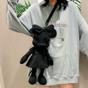 mickey minnie black Satchel plush cosplay shoulder bag messenger bag storage bag