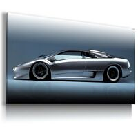 LAMBORGHINI DIABLO SILVER Sport Car Large Wall Canvas Picture ART AU353  MATAGA