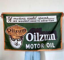 Oilzum Motor Oil Banner Gasoline Tapestry Flag Fabric Poster Vintage Sign 3x5 ft