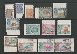 CYPRUS QEII 1955 SET TO 250m MNH SG;173/85 Cat £63