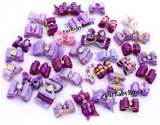25 Lavender Purple Yorkie Dog Pet Puppy Bows Shih-tzu, Maltese Grooming bands