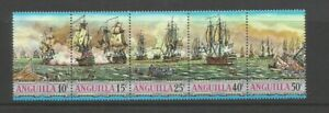 Anguilla 1971 Sea Battles of The West Indies Horizontal Strip SG112/6 Mount Mint