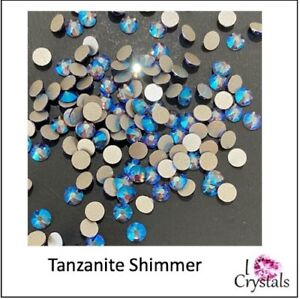 TANZANITE SHIMMER Purple 16ss 4mm 144 pieces Swarovski Flatback Rhinestones 2088