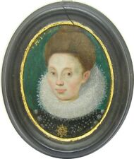 c. 1597 Exceptional Portrait Miniature of a 'Lady of Quality' Late 16th century