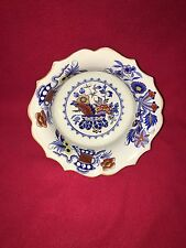 Staffordshire Ironstone China Compote Center Piece War Bonnet Pattern Ca. 1860's
