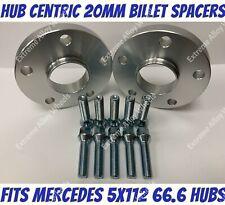 2 DISTANZIALI RUOTA 20 mm 5x112 66.6 bulloni OE per Mercedes A-CLASS A45 AMG W176 13-16
