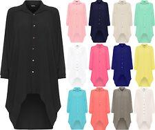 No Pattern Casual Shirt Plus Size for Women