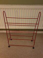 More details for vintage original red shoe rack