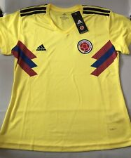 Adidas Colombia National Soccer Team Jersey Women's XL Yellow
