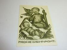 Alte Originale Hummel Karte Schwarz weiß gezackter Rand NR S 2 Müller unbesch.
