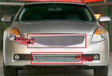 Fits 2007-2009 Nissan Altima Coupe Stainless Mesh Grille Combo