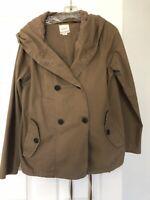 Roxy Brown Light Weight Pea Coat Size Medium