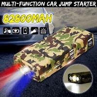 82800mAh Portable Car Vehicle Jump Starter Battery Booster 12V Emergency Light