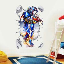 3D Broken Optimus Prime Transformers Kids Boys Cartoon Wall Decal Vinyl Stickers