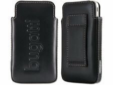 Original Bugatti Basic Calf Leather Case Cover Pouch for Various Smartphones