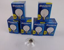 "Bulbrite Globe 15W 130V G12 Clear 11/2"" Diameter Candelabra Base 15G12CL Lot 6"