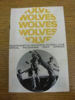 04/05/1968 Wolverhampton Wanderers v Chelsea  (slight marked on back). Thanks fo