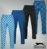 Mens Slazenger Standard Fit Stylish Print Golf Trousers Sizes Waist 32-40