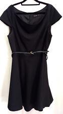 Portmans Black Corporate Wear Tunic Dress With Belt: Size 14