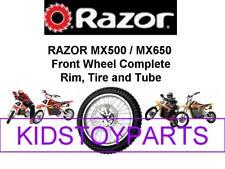 New! Razor MX500 & MX650 FRONT WHEEL ASSEMBLY (TIRE, TUBE AND WHEEL)