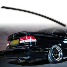 For Honda Civic 6th 96-00 Fyralip Rear Trunk Lip Spoiler Wing Unpainted Black