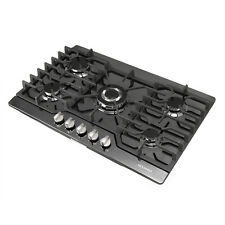 "Metawell 30"" Black Titanium 5 Burner Built-in Stoves Lpg/Ng Gas Cooktops 3000W"