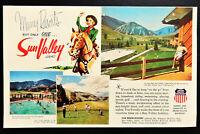 1950 's Sun Valley Idaho resort lodge travel vacation advertisement print ad art