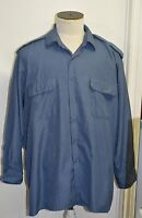 Canadian forces navy blue shirt size 17-1/2 x 37 ( box#86 )