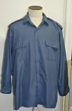 Canadian forces navy blue shirt size 17 x 32 ( box#85 )
