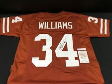 RICKY WILLIAMS TEXAS LONGHORNS SIGNED CUSTOM JERSEY JSA COA WP376119 FREE S&H!